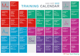 Training Calendar Template Templates Collections