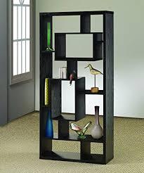 Amazon.com: Coaster Room Divider Shelf In Black Oak Finish: Kitchen & Dining