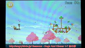 アングリーバード(Angry Birds) Hogs And Kisses Level 1-7 金の卵登場!