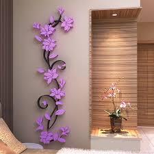 wall decor 29 warm hot 3d mirror stickers e flower vase acrylic decal home diy