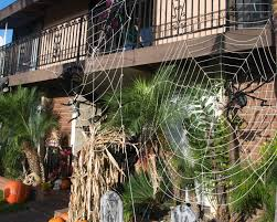 ... Winsome Halloween Outdoor Decoration With Big Webs ...