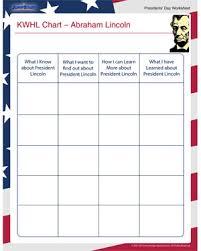 Lincoln Presidency Chart Kwhl Chart Abraham Lincoln Presidents Worksheet Jumpstart