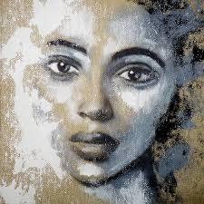 saatchi art artist anita kaufmann painting portrait black white art
