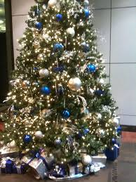 Blue And Silver Tree Love The Theme Christmas Office