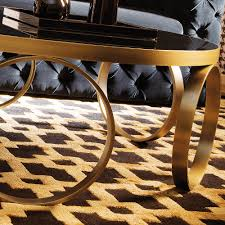modern italian lacquered round ring coffee table