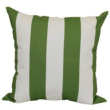 garden treasures green multicolor and striped square throw pillow outdoor decorative pillow