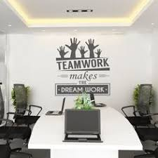 wall decor for office. teamwork makes the dream work office wall art corporate supplies decor for