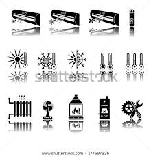 heating cooling icon. heating and cooling icons icon d