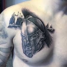 рисунок спартанца на груди парня фото рисунки эскизы