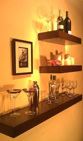 awesome idea for a bar i saw shelves like these at bed bath beyond