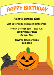 halloween birthday greeting halloween birthday invitations custom printed party cards