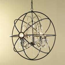 wrought iron sphere chandelier collection round