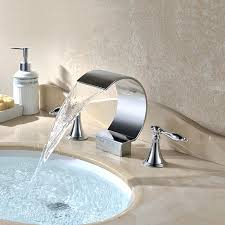 bathtub waterfall faucet bathroom waterfall faucets oil rubbed bronze waterfall widespread bathtub faucet
