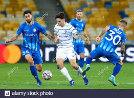 KYIV, UKRAINE - SEPTEMBER 29: Tim Kleindienst of AA Gent, Mykola Shaparenko  of Dynamo Kiev, Niklas Dorsch of AA Gent during the UEFA Champions League  Stock Photo - Alamy