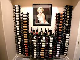 wall mount wine rack style