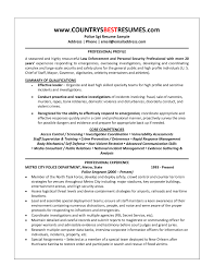 Adorable Police Officer Resume Skills With Sample Resume Police