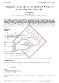 Cyclone Design Parameters Pdf Design Of High Efficiency Cyclone For Tiny Cement Industry
