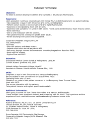 Resume Example Radiologic Technologist Resume Ixiplay Free