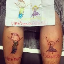 татуировки для родителей из рисунков детей онлайн журнал о тату