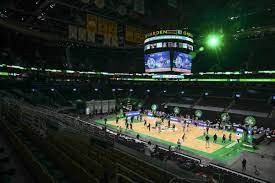 boston celtics td garden fitted with