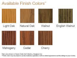 choose from seven unique finish colors