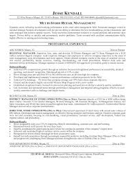 Resume Examples Retail Management