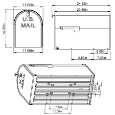 Mailbox flag dimensions Security Standard T3 Mailbox Post Flag Standard T3 Mailbox extra Large Capacity Estes Designs Mailboxes