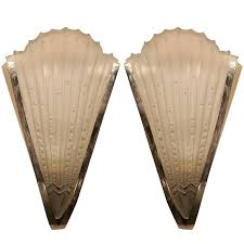 pair of art deco wall sconces 1