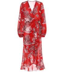 Printed Cotton Wrap Dress