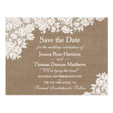 custom save the date postcards zazzle co uk Wedding Invitations Or Save The Dates rustic burlap & vintage lace wedding save the date postcard wedding invitations and save the date sets
