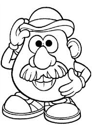 Small Picture Mr Potato Head Coloring Pages for Kids Bulk Color