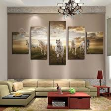Small Picture Aliexpresscom Buy Framed Print horse painting modern home decor