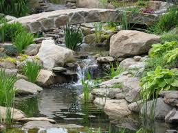 Small Picture Backyard Waterfall Designs Minimalist Design With Water Garden