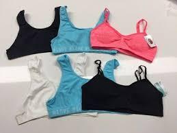 Fruit Of The Loom Girl Bra Size Chart Girls 2 Lot Seamless Sports Bra Tank Style Beige White