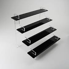 Acrylic Tiered Display Stands Tiered Vape LiquidJuice Display Stand Black Acrylic 100 Sizes 100 61
