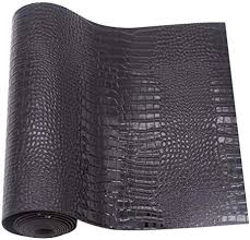 Crocodile Pattern Faux Leather Fabric Sheet Solid PU ... - Amazon.com