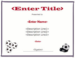 soccer awards templates free printable soccer certificate templates