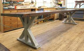 Copper Top Kitchen Table A Few Claro Walnut Tables And One With Copper Guild Of Vermont