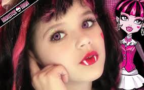 draculaura monster high doll costume makeup tutorial for you