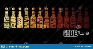 Beer Color Chart Stock Vector Illustration Of Draft 130681567