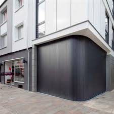 sliding garage door wooden automatic curved