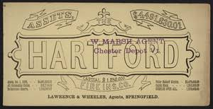 Find the best auto insurance in connecticut: Trade Card For The Hartford Fire Insurance Company Hartford Connecticut 1885 Digital Commonwealth