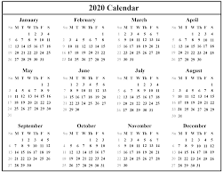 Small Printable 2020 Calendar Free Download Australia 2020 Calendar Printable Pdf Excel