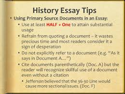 do the things that will earn you high marks college board  history essay tips using primary source documents in an essay
