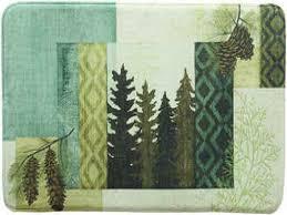 bacova bath rugs mats style green