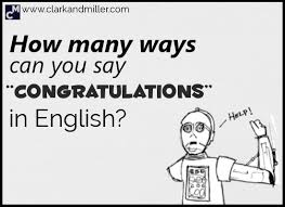 Miller Clark And English Congratulations 15 Say In To Ways