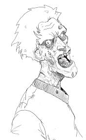 Youth Into The Zombie Coloring Pages Halloween Cartoon Coloring