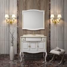 <b>Зеркало Opadiris Лаура 100</b> белое с патиной купить в магазине ...