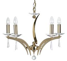 5 light crystal chandelier gold oaks lighting manhattan