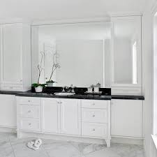White Bathroom Cabinets With Dark Countertops White Bathroom